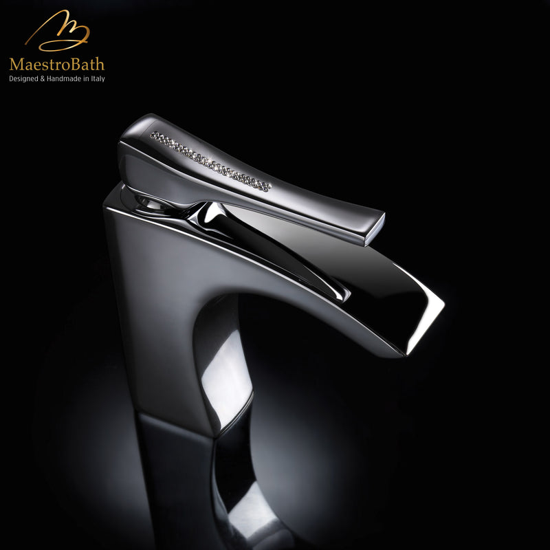Skip Diamond 1-Hole Polished Chrome Luxury Vessel Sink Faucet