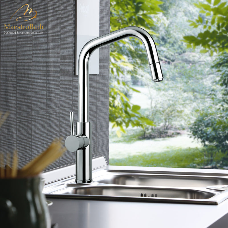 MITU DQ CHROME | Modern Kitchen Faucet With Pull Out Mono Shower