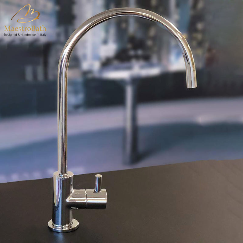 Modern Small Kitchen Faucet | Polished Chrome