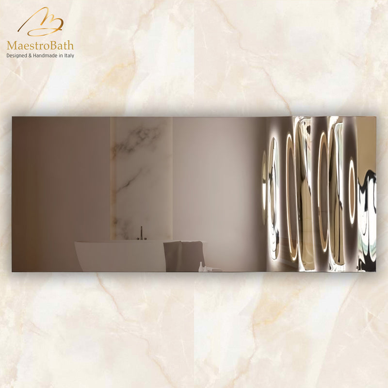 Wave Luxury Mirror | Silver and Bronze