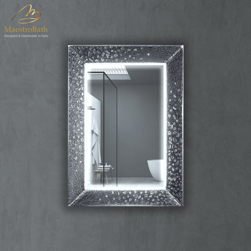 Murano Luxury Single Vanity Mirror | Silver