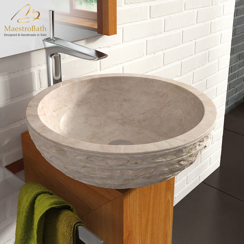 Stone Puket Beige Luxury Natural Stone Sink