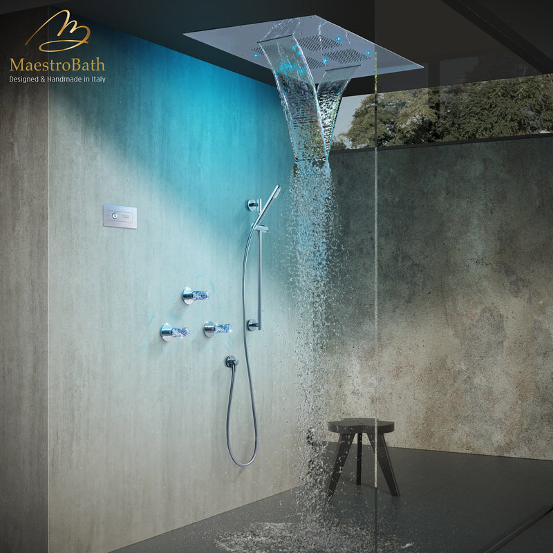 Lux Complete Shower Set | Polished ChromeLux Complete Shower Set | Polished Chrome