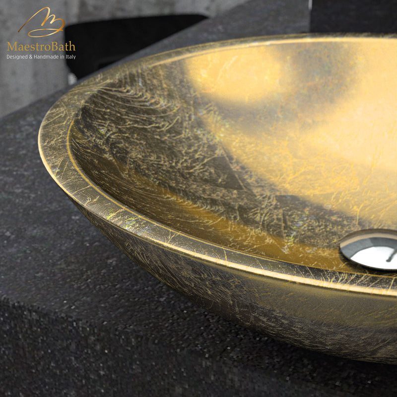 Teknoform Circus 50 Gold Leaf Bathroom Sink