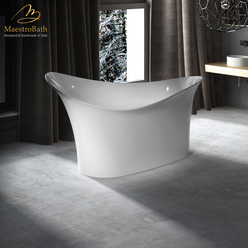 Shell Modern Freestanding Bathtub | White