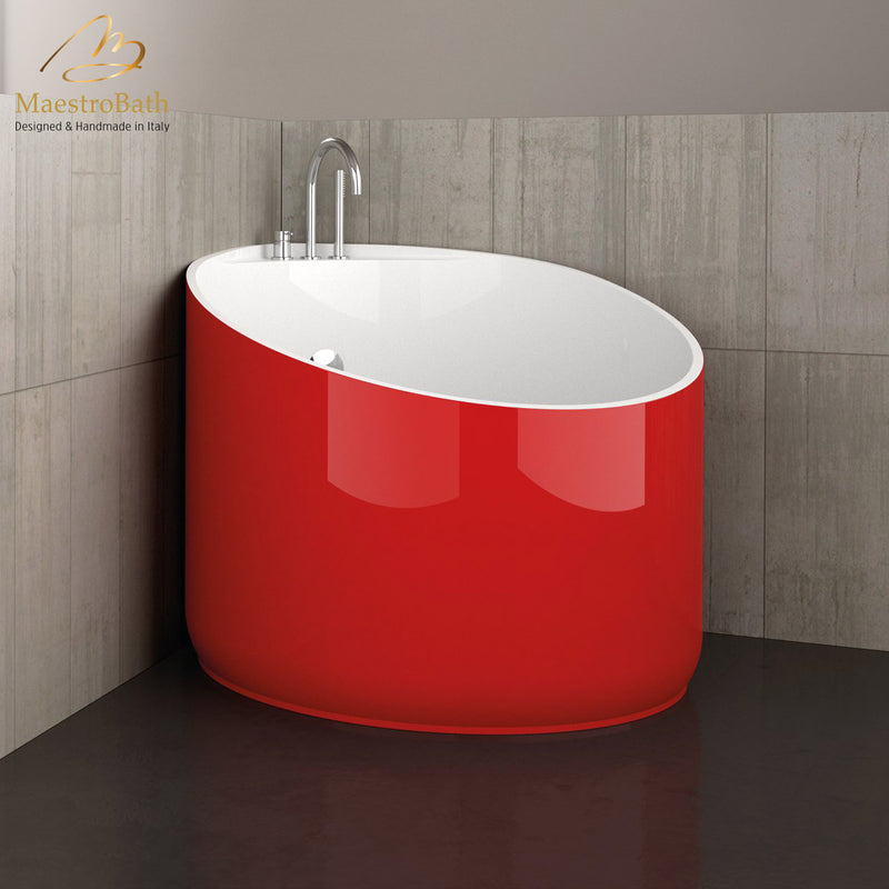 Modern Round Bathtub | Red