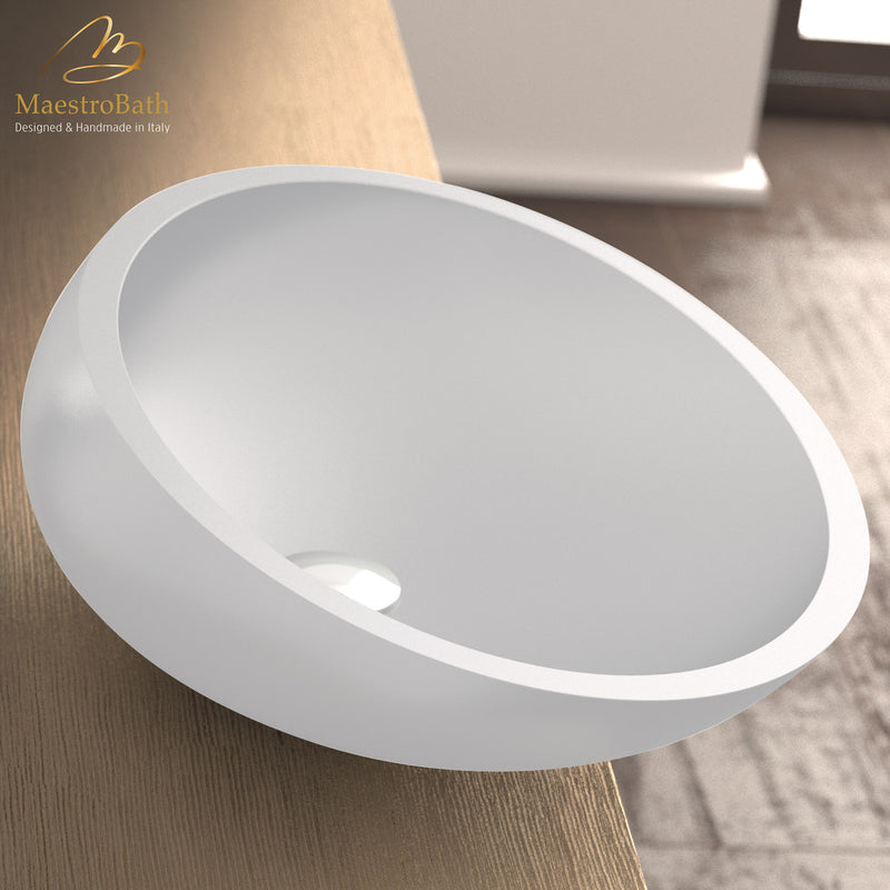 Vetrofreddo Kool White Small Vessel Sink