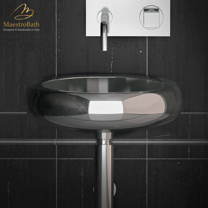 Stainless Steel Glo Ball Shiny Steel Vessel Sink