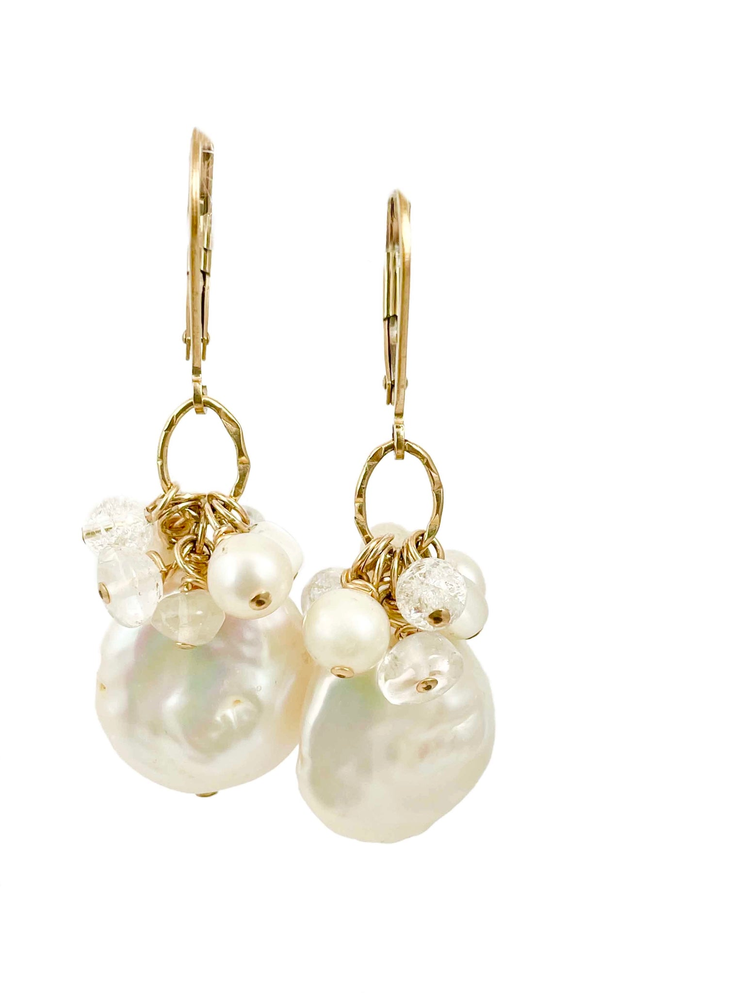 Pearl cluster earrings | coco elegance