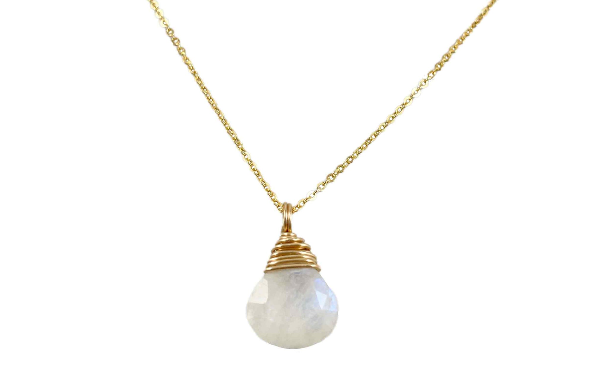 Wrapped Moonstone Necklace | Natural gemstone collection