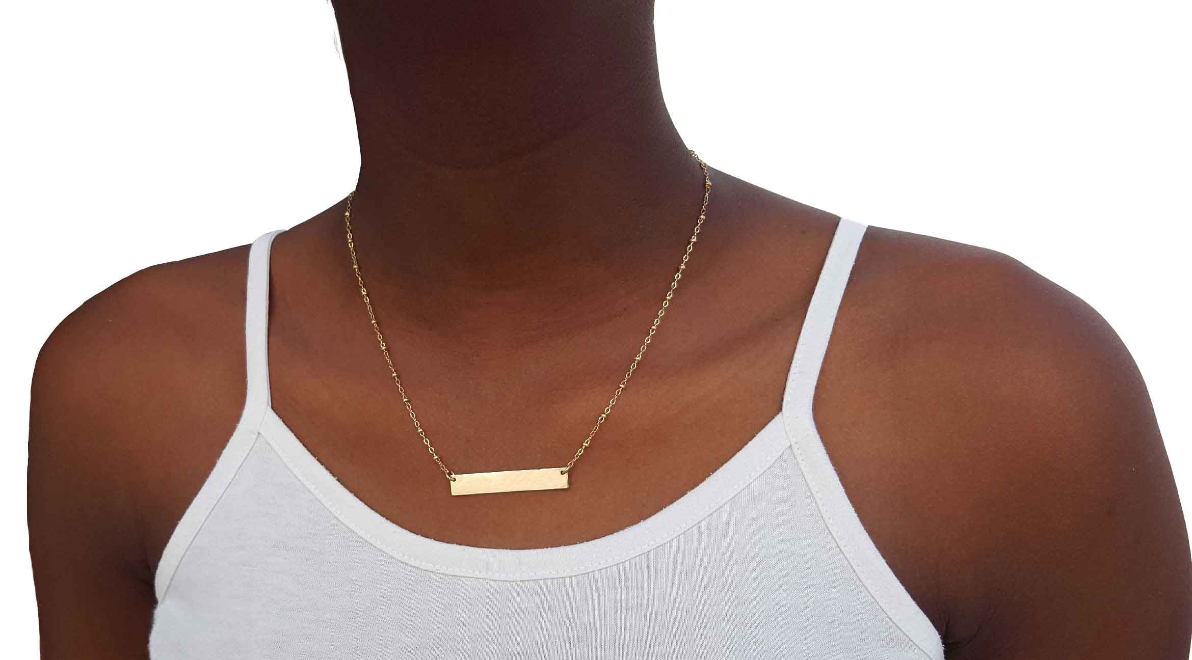 Golden Bar Necklace | Summer Gems