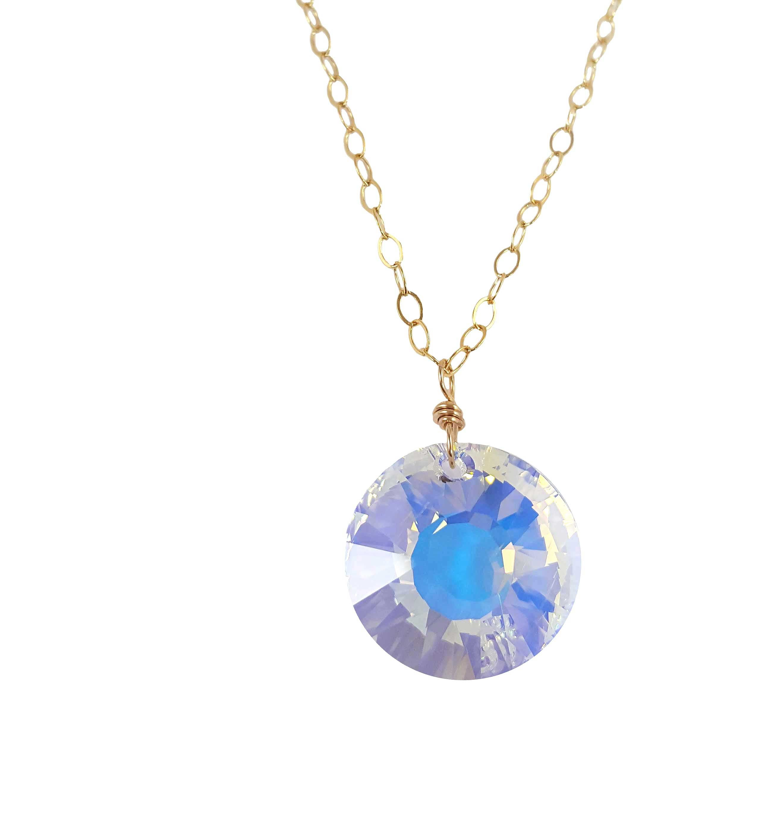 Crystal Coin Necklace | Summer Gems