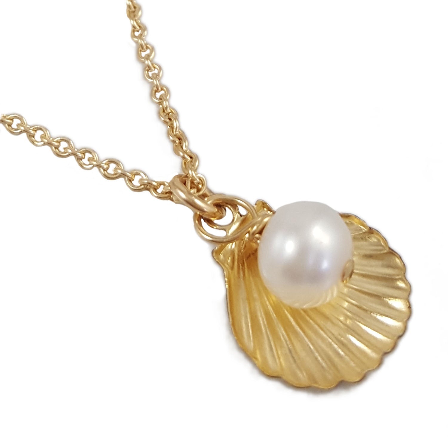 Shell Pearl Necklace | Summer Gems