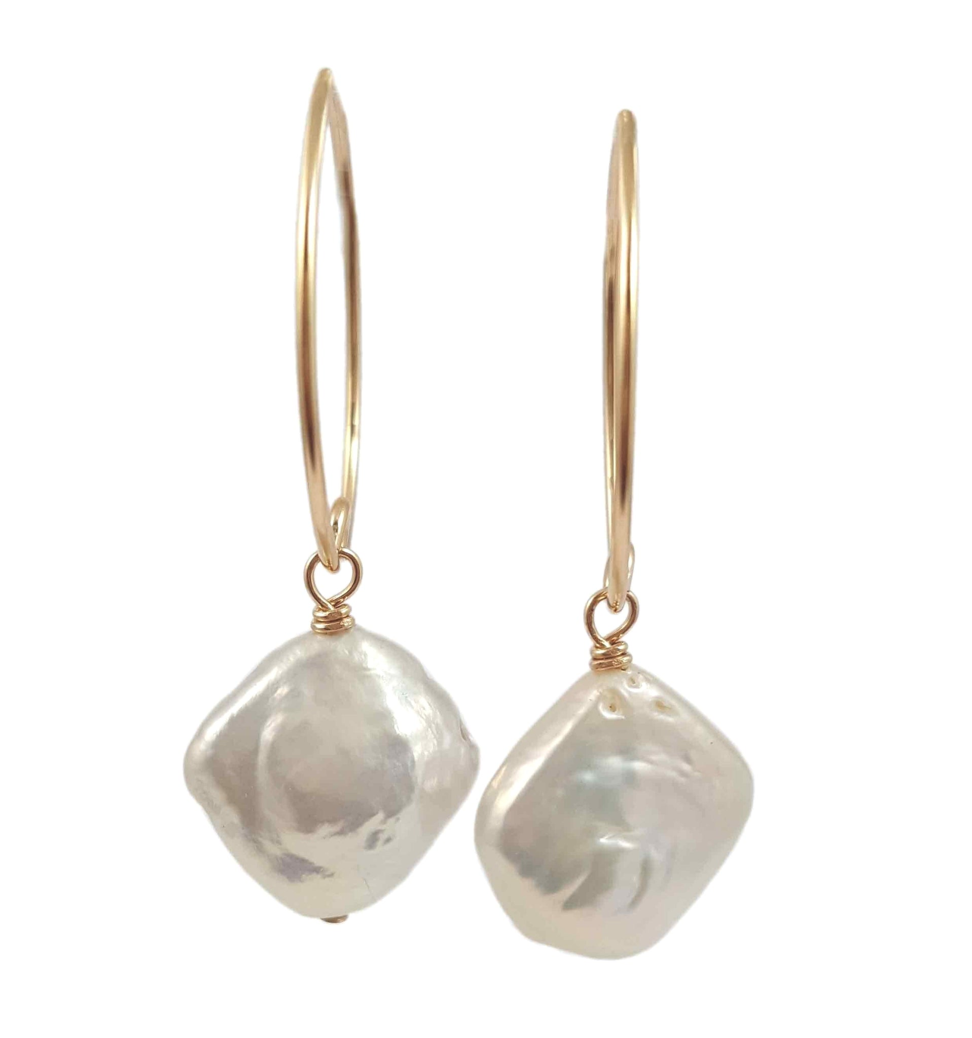 Elongated pearl drop earrings | Coco elegance