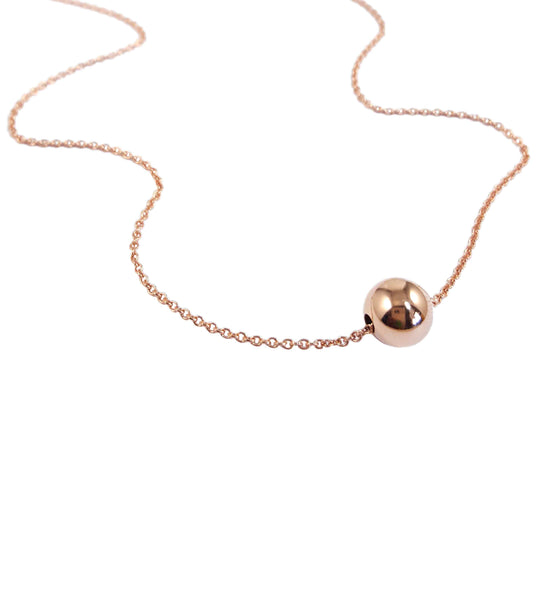 Rose gold ball necklace | Minimalist collection