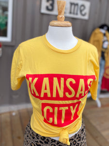 Yellow Short Sleeve Red KC