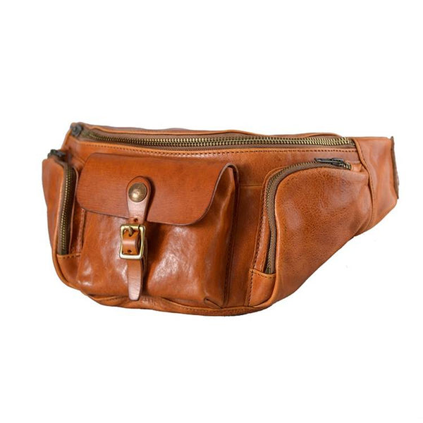 Abraham Full-Grain Leather Fanny Pack | Grittyrustic