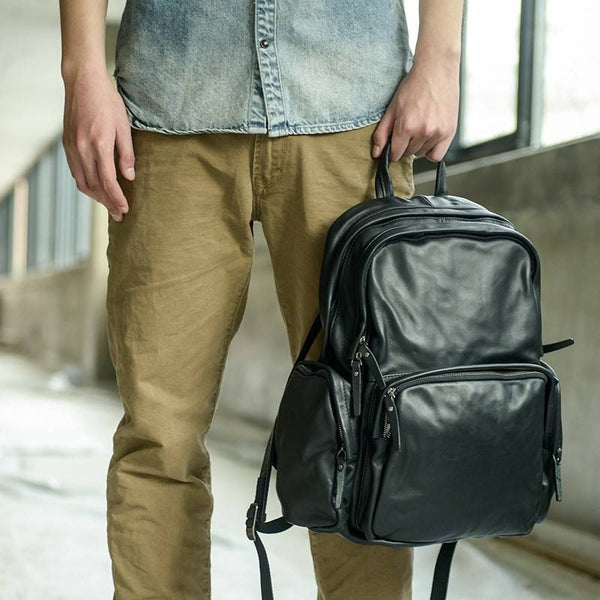 Adventure Daypack Full-Grain Leather Backpack | Grittyrustic