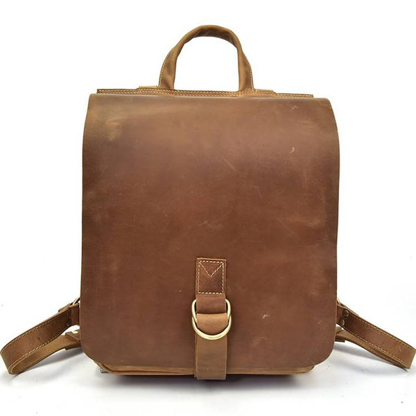 Archival Full-Flap Rustic Leather Backpack | Grittyrustic.com