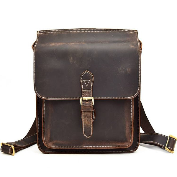 Archival Half-Flap Rustic Leather Backpack | Grittyrustic.com