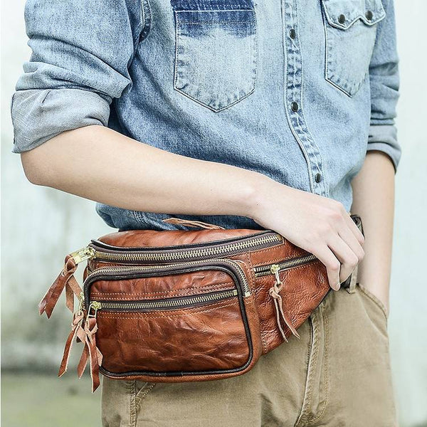 Clydesdale Full-Grain Rustic Leather Fanny Pack | Grittyrustic