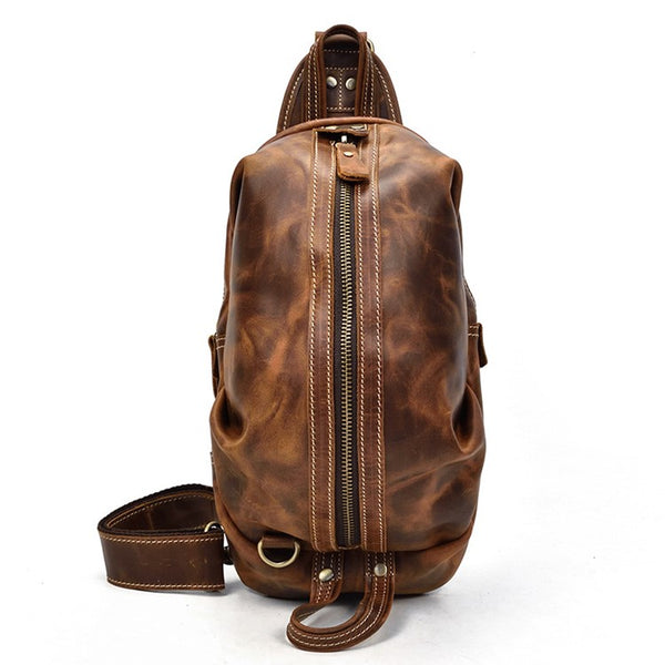 Cocoon Rustic Leather Chest Pack | Grittyrustic.com