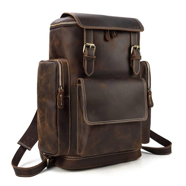 Continental Rustic Leather Rucksack   Grittyrustic.com