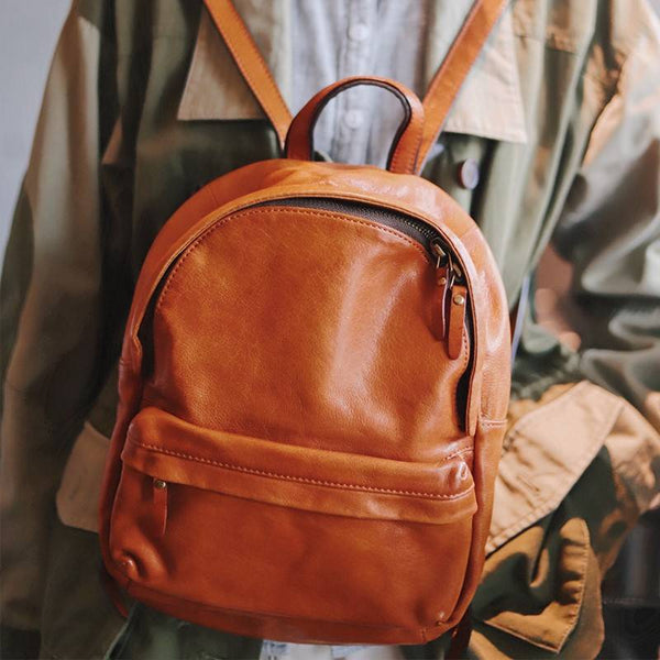 Daypack Full-Grain Leather Backpack | Grittyrustic
