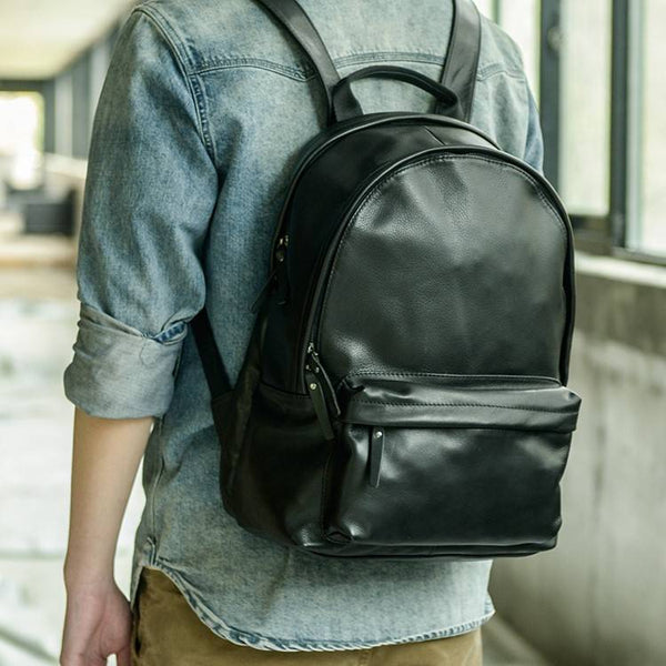 Daypack Full-Grain Leather Backpack Large | Grittyrustic