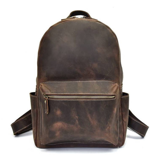 Daypack Rustic Leather Backpack | Grittyrustic.com