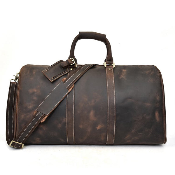 Expedition Rustic Leather Duffel Bag | Grittyrustic.com