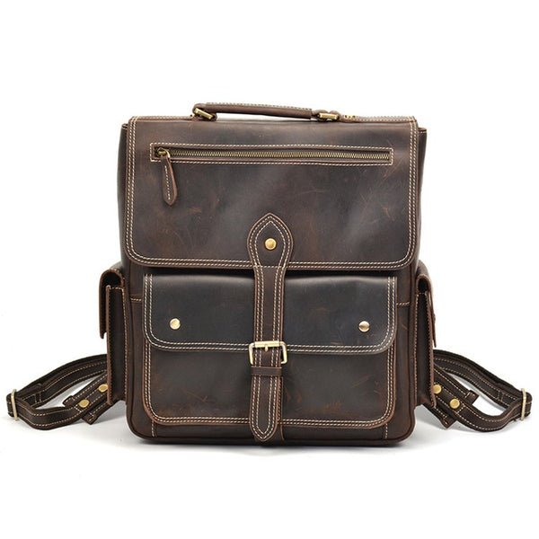 Indiana Archival Rustic Leather Backpack | Grittyrustic.com