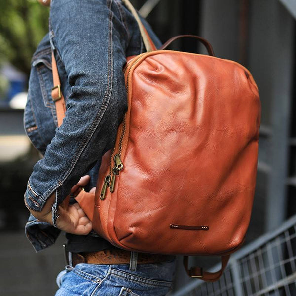 Jagger Full-Grain Leather Backpack | Grittyrustic