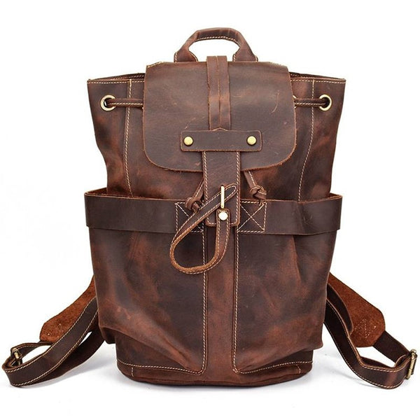 Outback Rustic Leather Rucksack   Grittyrustic.com