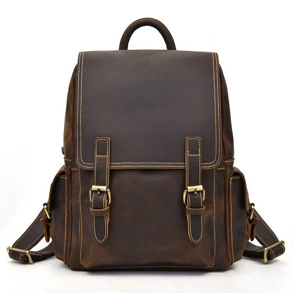 Outdoors Rustic Leather Backpack | Grittyrustic.com