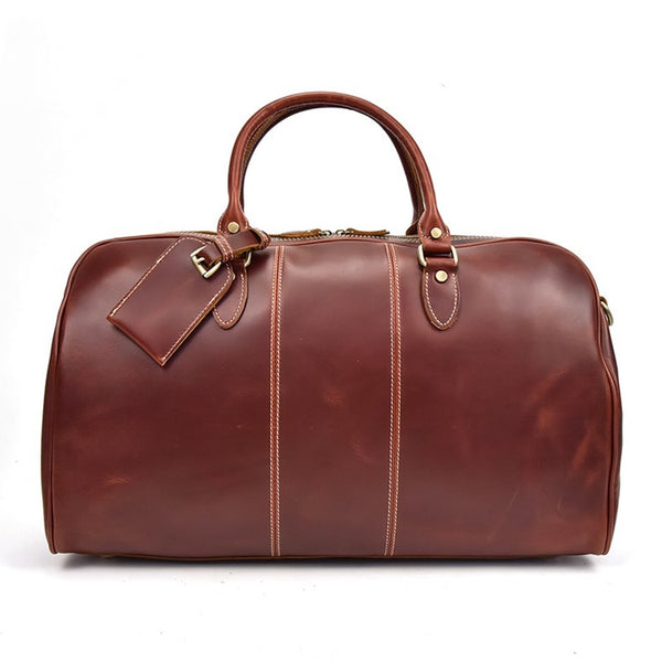 Posh Deluxe Leather Duffel Bag | Grittyrustic.com