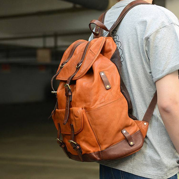 Scoutmaster Full-Grain Leather Backpack | Grittyrustic