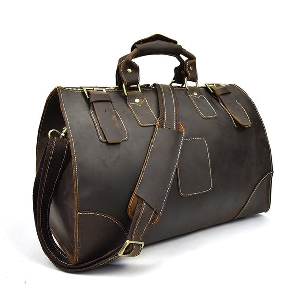 Storage Rustic Leather Duffel Bag | Grittyrustic.com