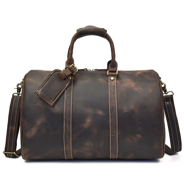 Travel Leather Duffel Bag | Grittyrustic.com