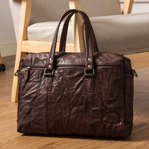 Urbanhide Full-Grain Portfolio Leather Briefcase | Grittyrustic