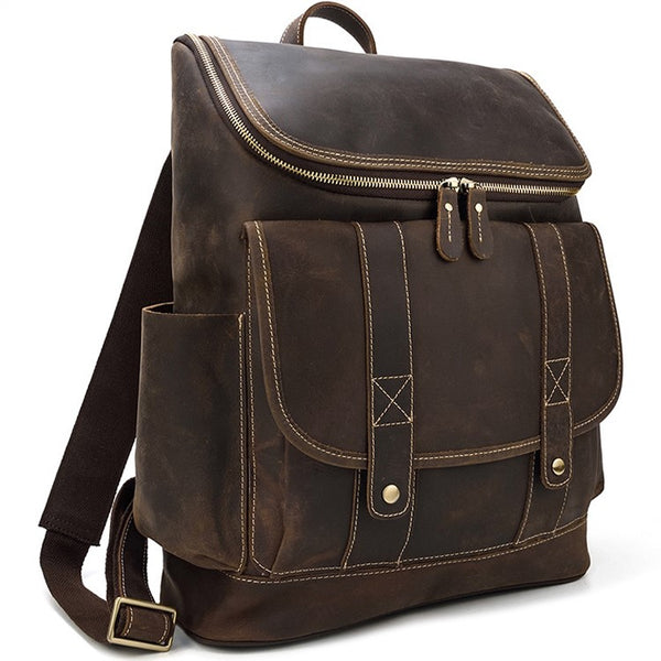 Workshop Rustic Leather Backpack | Grittyrustic.com