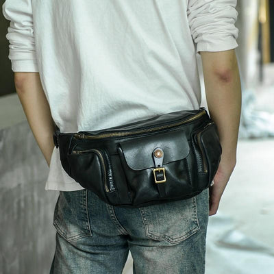 Abraham Full-Grain Leather Waist Pack - Grittyrustic