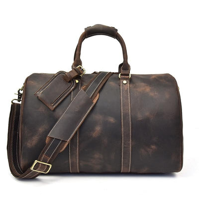 Adventure Travel Leather Duffel Bag - Grittyrustic