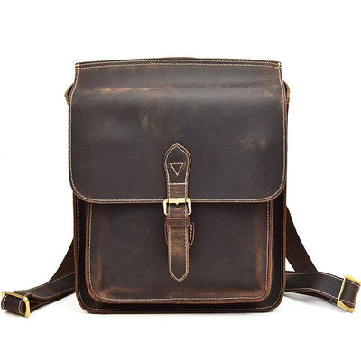 Archival Half Flap Leather Backpack - Grittyrustic