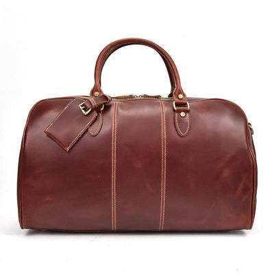 Artisanal Lux Travel Leather Duffel Bag - Grittyrustic