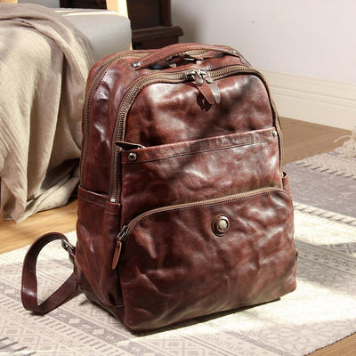Chieftain Monument Leather Backpack - Grittyrustic