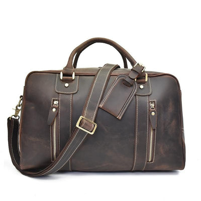 Crospack Business Travel Leather Duffel Bag - Grittyrustic
