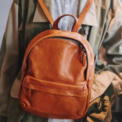 Daypack Leather Backpack - Grittyrustic
