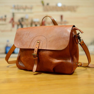 Dispatch Archival Leather Messenger Bag - Grittyrustic