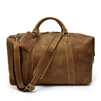 Winged Travel Leather Duffel Bag-Grittyrustic